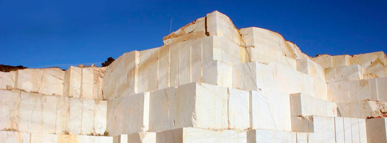 Cream ivory marble quarry